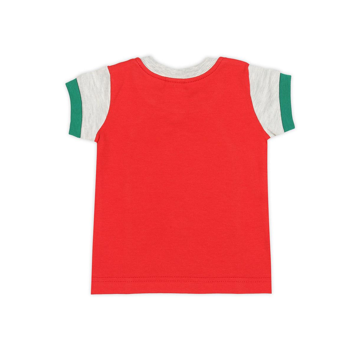 Футболка Ёмаё Хохлома (27-636) рост 80 светло серый меланж с красный