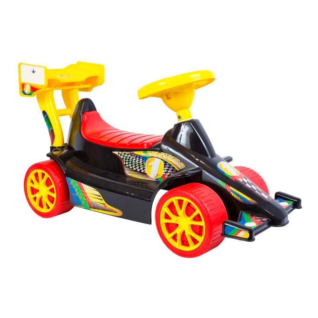 Каталка RT Гоночный Спорткар  ОР894 Super Sport Черная с красным