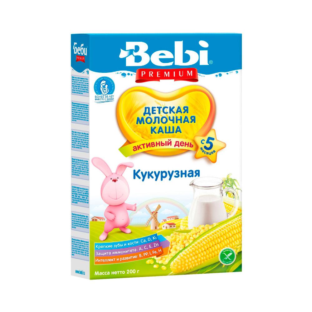 Каша Bebi Premium молочная 200 гр Кукурузная (c 5 мес)<br>
