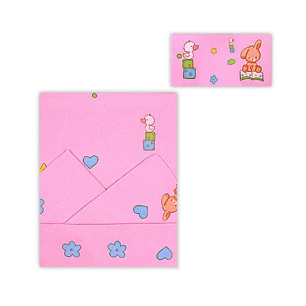 Комплект постельного белья детский Мотылек Розовый<br>