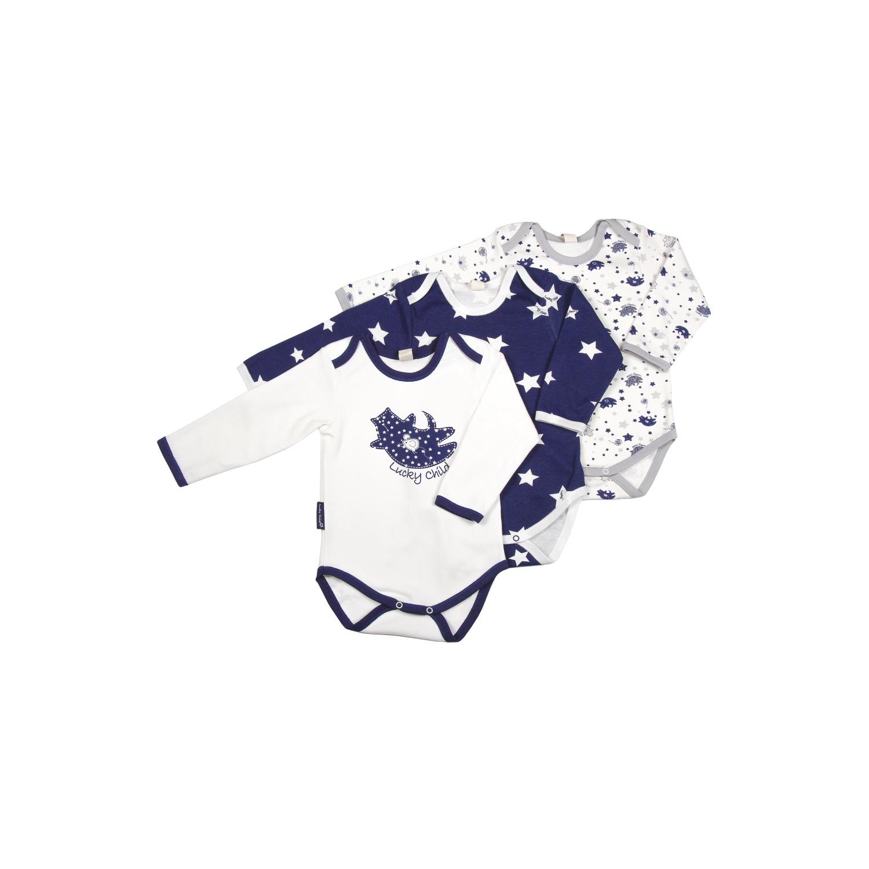 Комплект боди с длинным рукавом Lucky Child Котики (3 шт) рост 74<br>