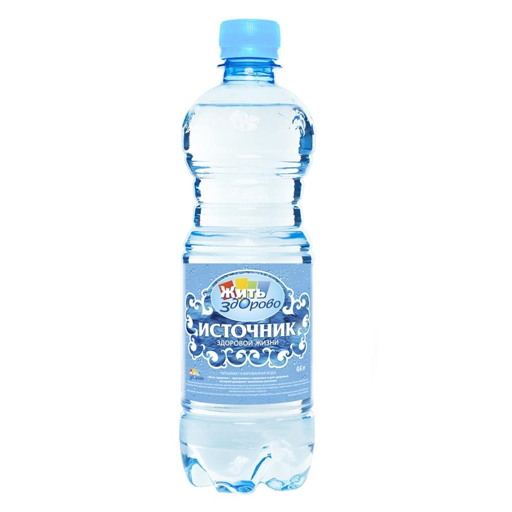 Вода питьевая Источник здоровой жизни Газированная 0,6 л (пластик)<br>