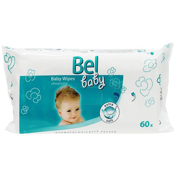 Салфетки влажные Hartmann Bel Baby Ultrasensitive для чувствительной кожи 60 шт