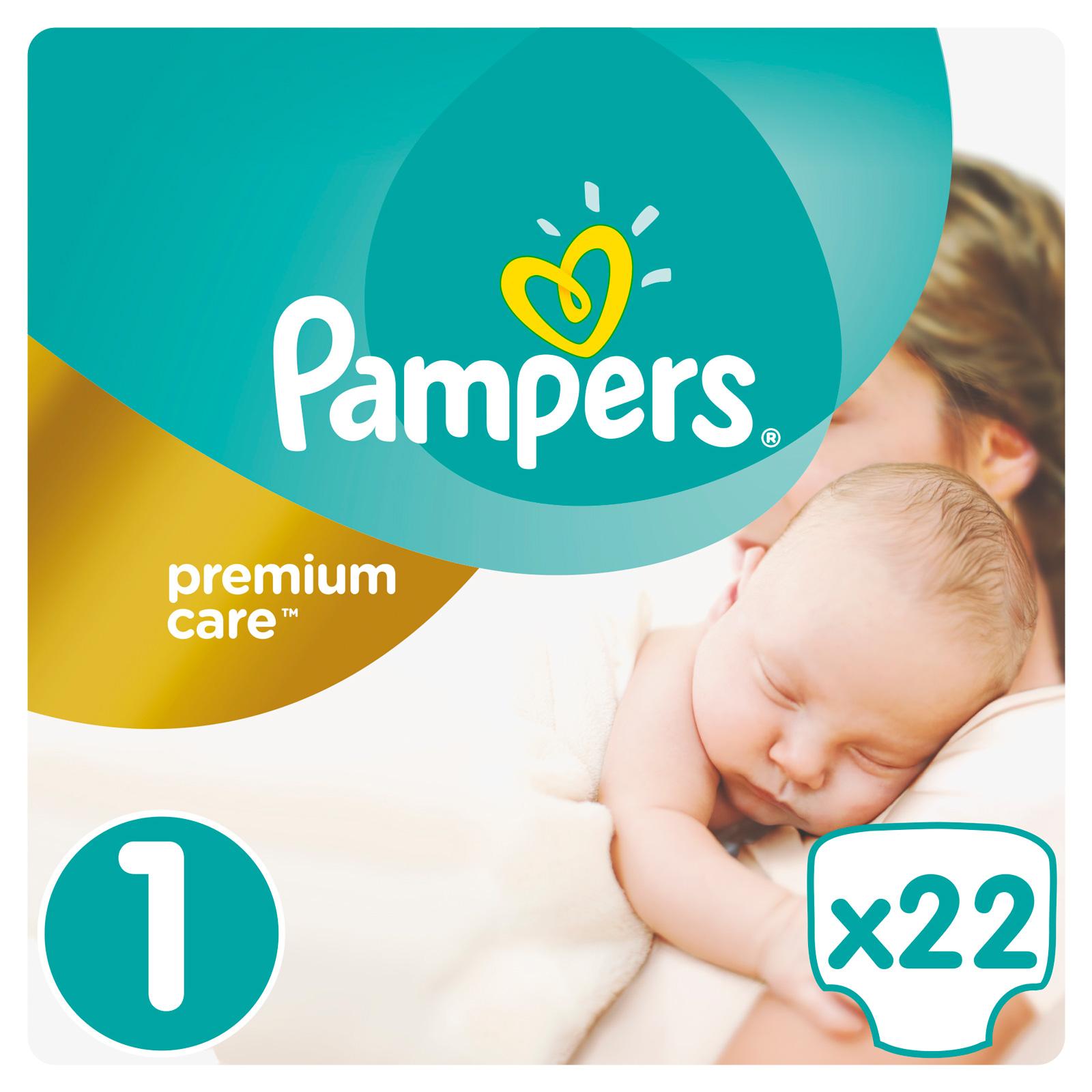 Подгузники Pampers Premium Care Newborn 2-5 кг (22 шт) Размер 1<br>