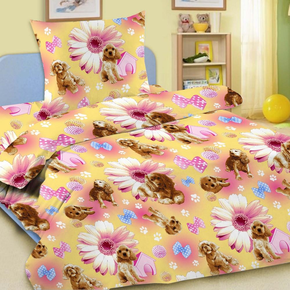 Комплект постельного белья детский Letto Догги<br>