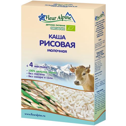 Каша Fleur Alpine Органик 200 гр Рисовая (с 4 мес) на коровьем молоке<br>