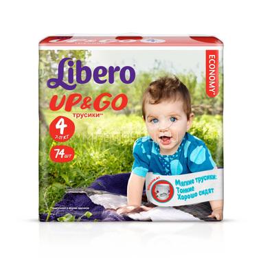 Трусики Libero Up & Go Maxi 7-11 кг. (74 шт.) Размер 4