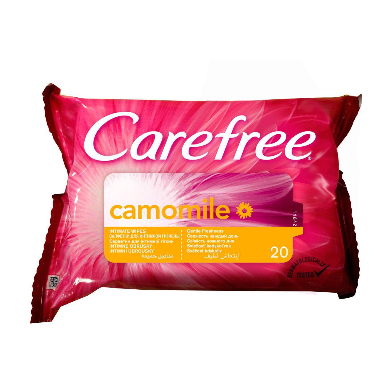 Салфетки влажные Carefree с ромашкой для интимной гигиены 20 шт<br>