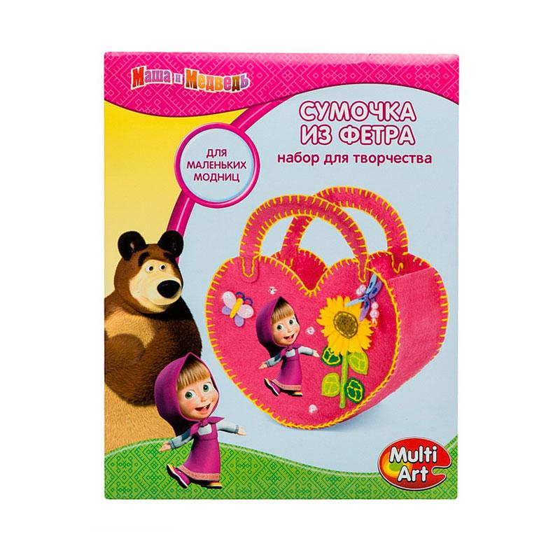 Набор для творчества Multiart Маша и медведь Сделай сумочку из фетра<br>