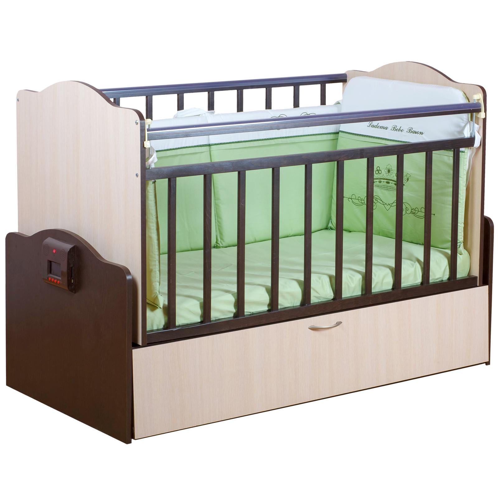 Кроватка Daka Baby Укачай-ка 02 автоматическая Комбинированный<br>