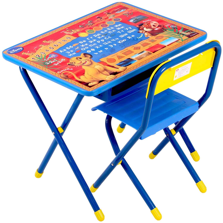Набор мебели стол и стул Дэми №1 Король лев Синий<br>