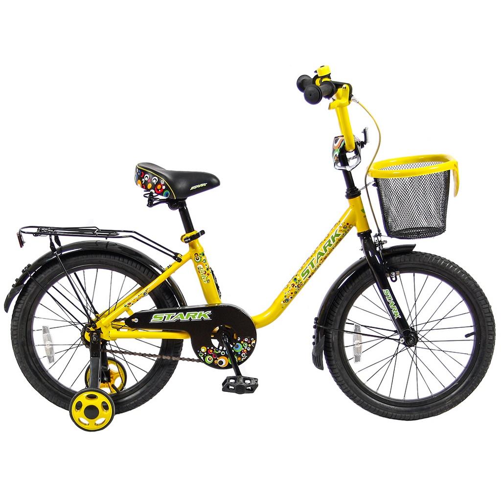 Велосипед двухколесный VeloLider 18 Lider Stark 18U-009 Желтый/Черный<br>