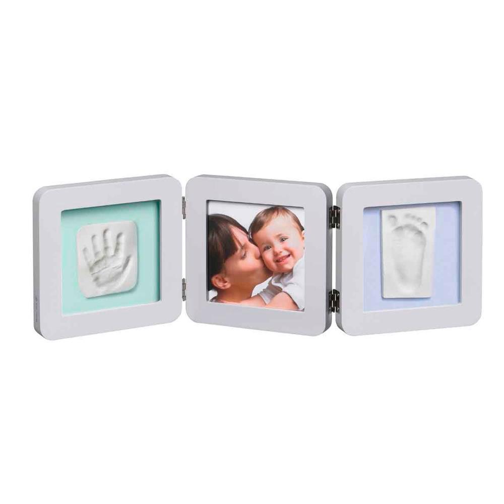Рамочка Baby Art тройная (светло-серая)<br>