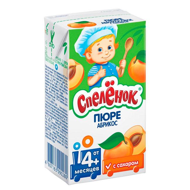 Пюре Спеленок фруктовое (тетрапак) 125 гр Абрикос (с 4 мес)<br>