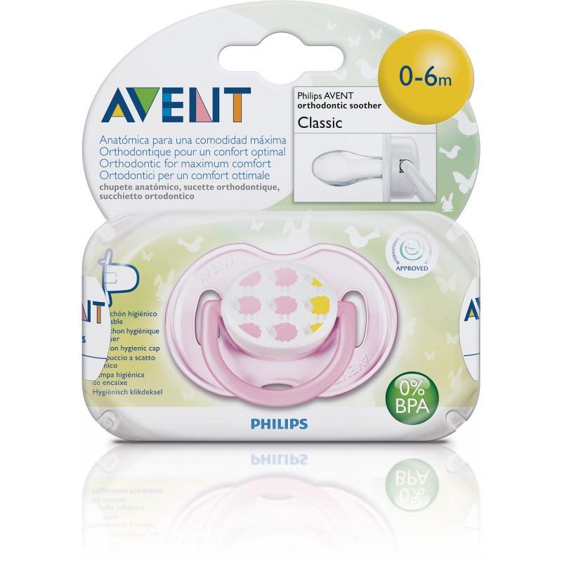 Пустышка Philips Avent Дизайн 1 шт Силикон для девочки (с 0 до 6 мес)<br>