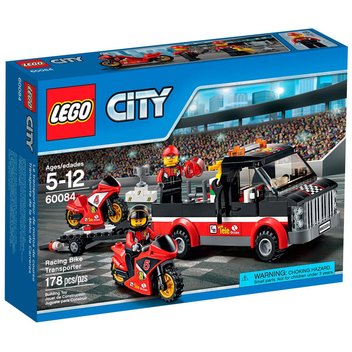 Конструктор LEGO City 60084 Перевозчик гоночных мотоциклов<br>
