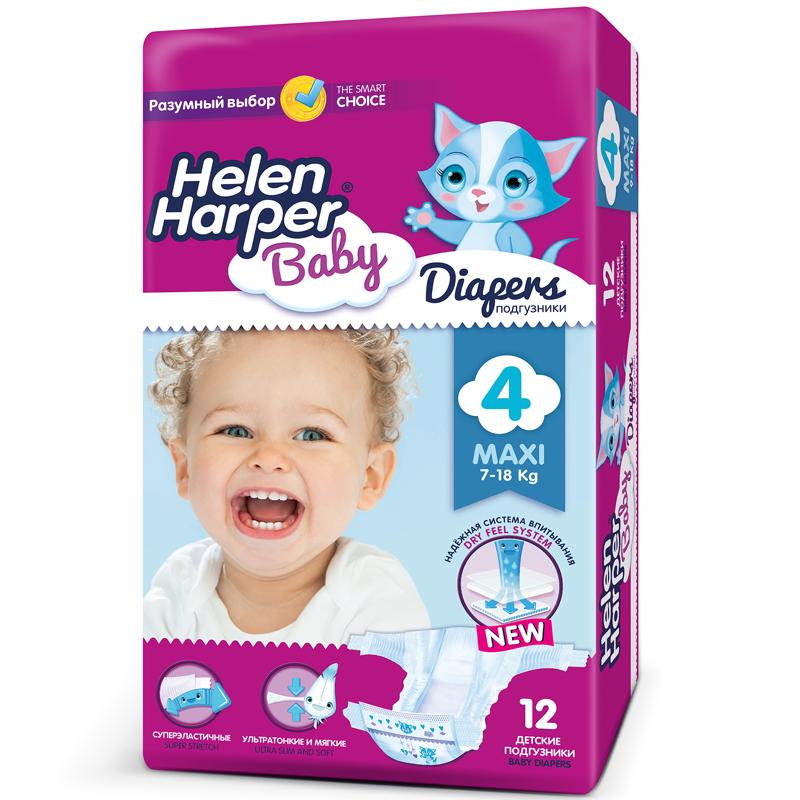 Подгузники Helen Harper Baby Maxi 7-18 кг. (12 шт.) Размер 4<br>