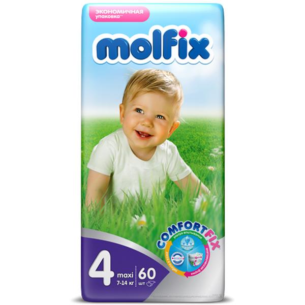 Подгузники Molfix Comfort Fix Maxi 7-14 кг. (60 шт.) Размер 4<br>