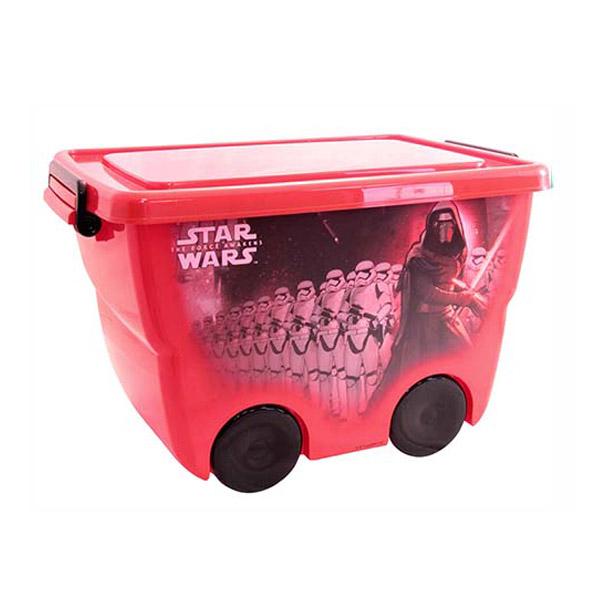 Ящик для игрушек Idea на колёсах Звездные войны Красный<br>