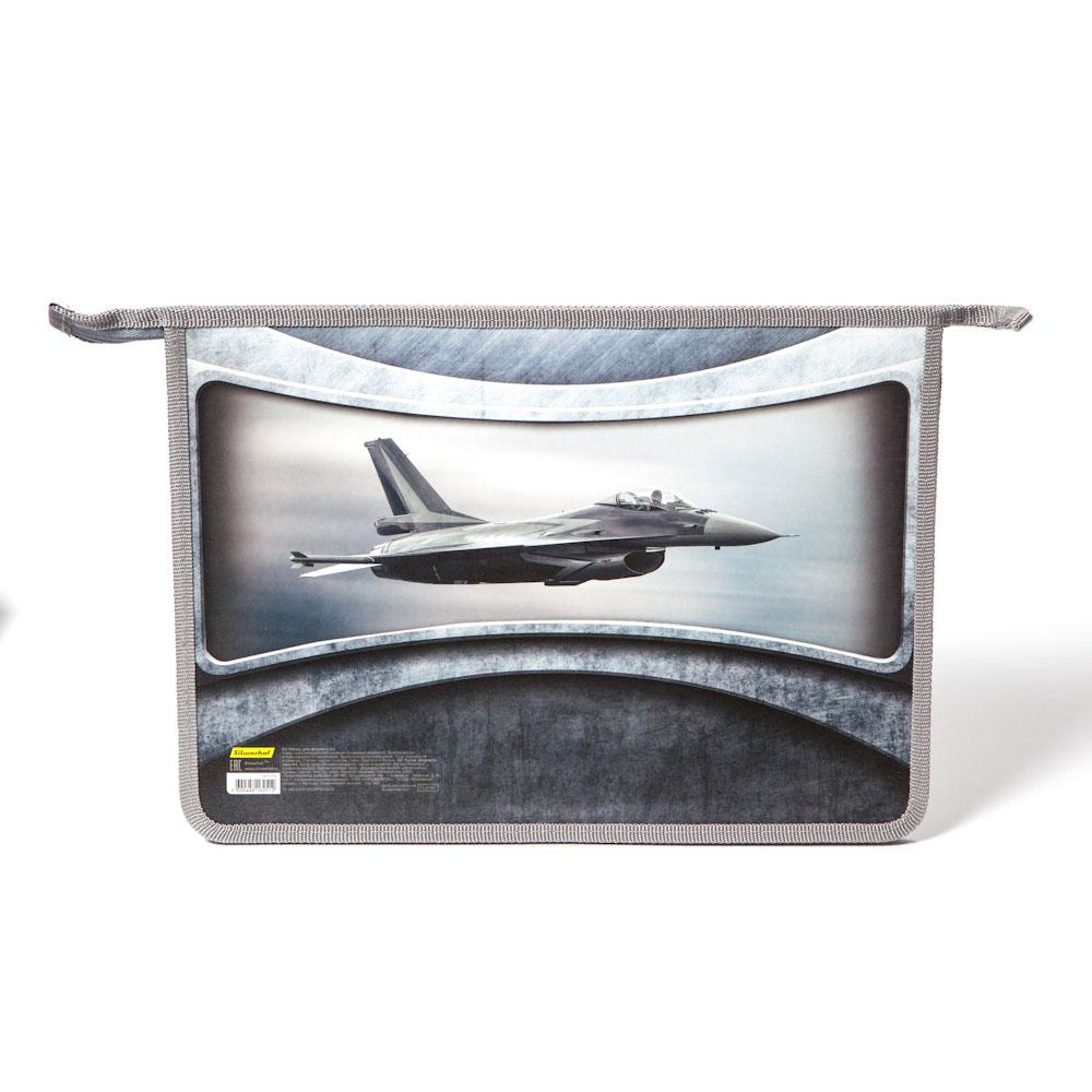 Папка Silwerhof для тетрадей А4 Самолет 1 отделение на молнии<br>