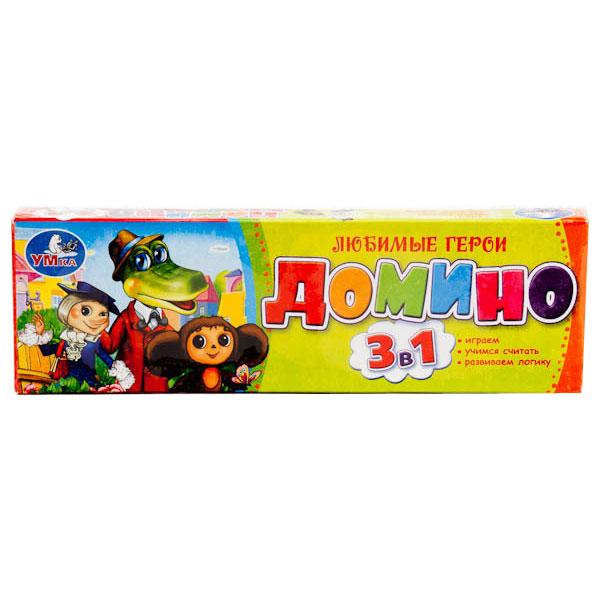 Настольная игра Умка Домино Чебурашка<br>