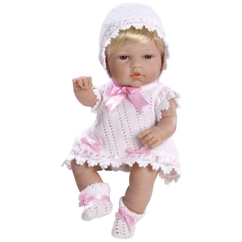 Кукла Arias 33 см Пупс блондинка Розовый бант<br>