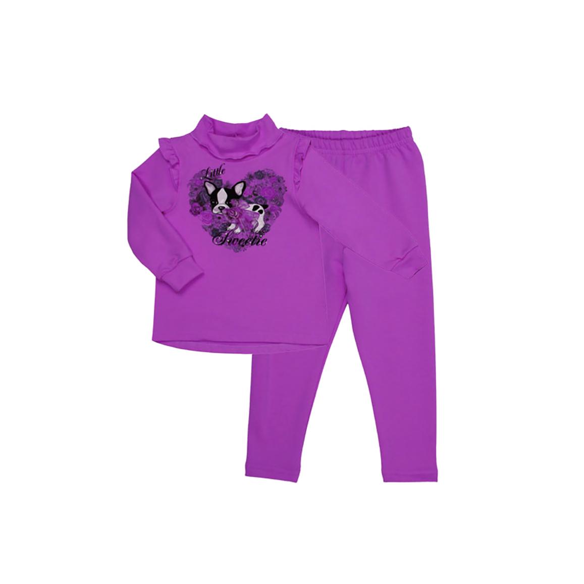 Комплект Бимоша для девочки: джемпер+брюки, цвет сиреневый (132153) 12-18 мес.
