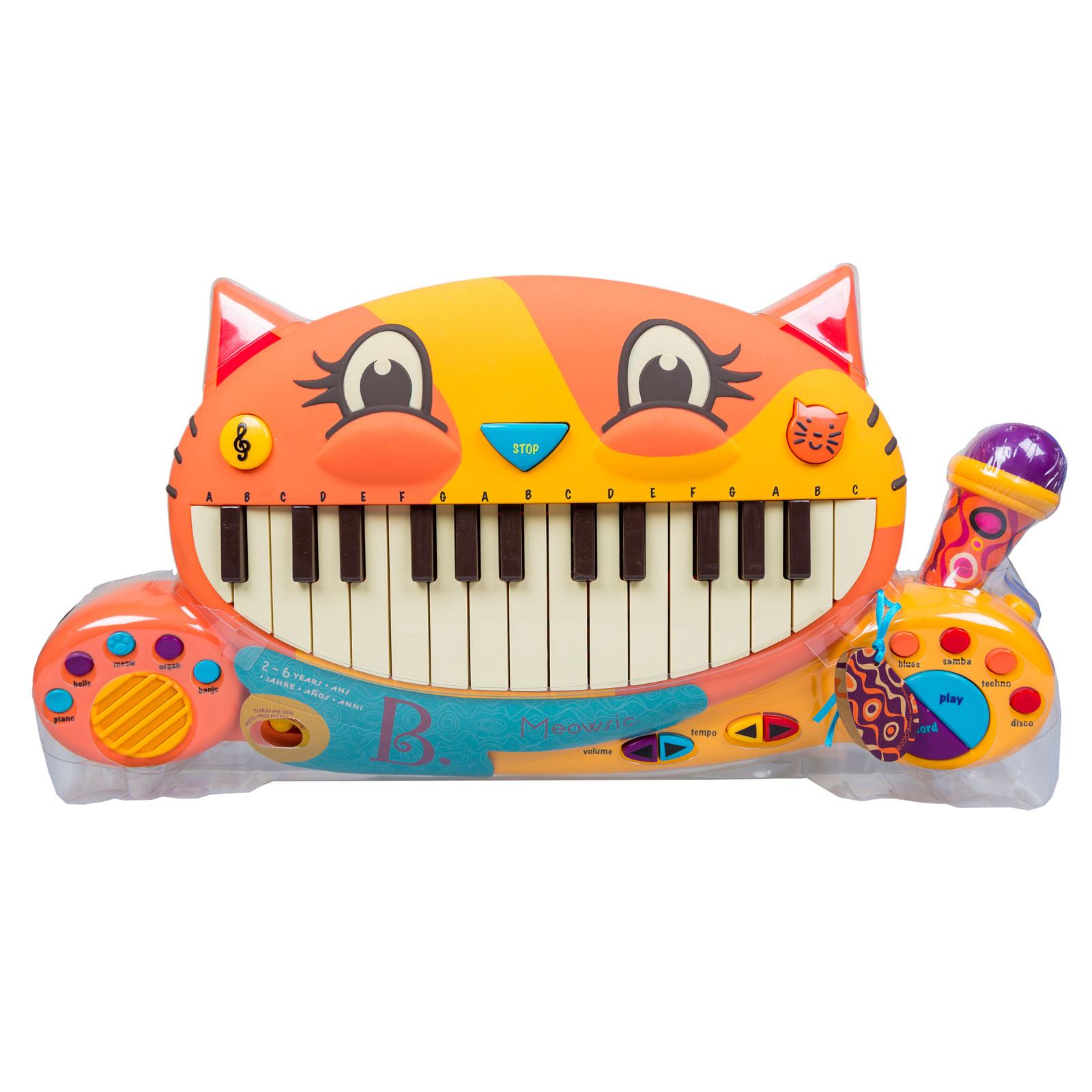 Развивающая игрушка B Dot Мини-пианино Meowsic от 2 лет.<br>