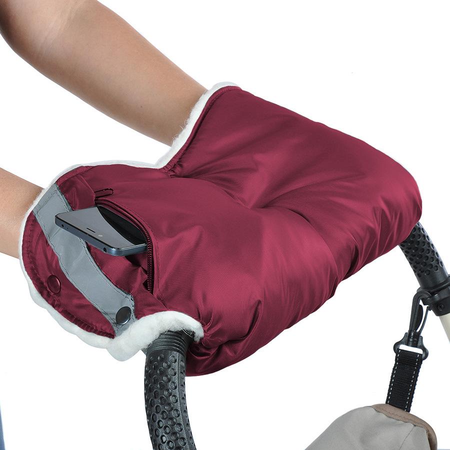 Муфта Bambola для коляски с карманом на молнии Бордо<br>