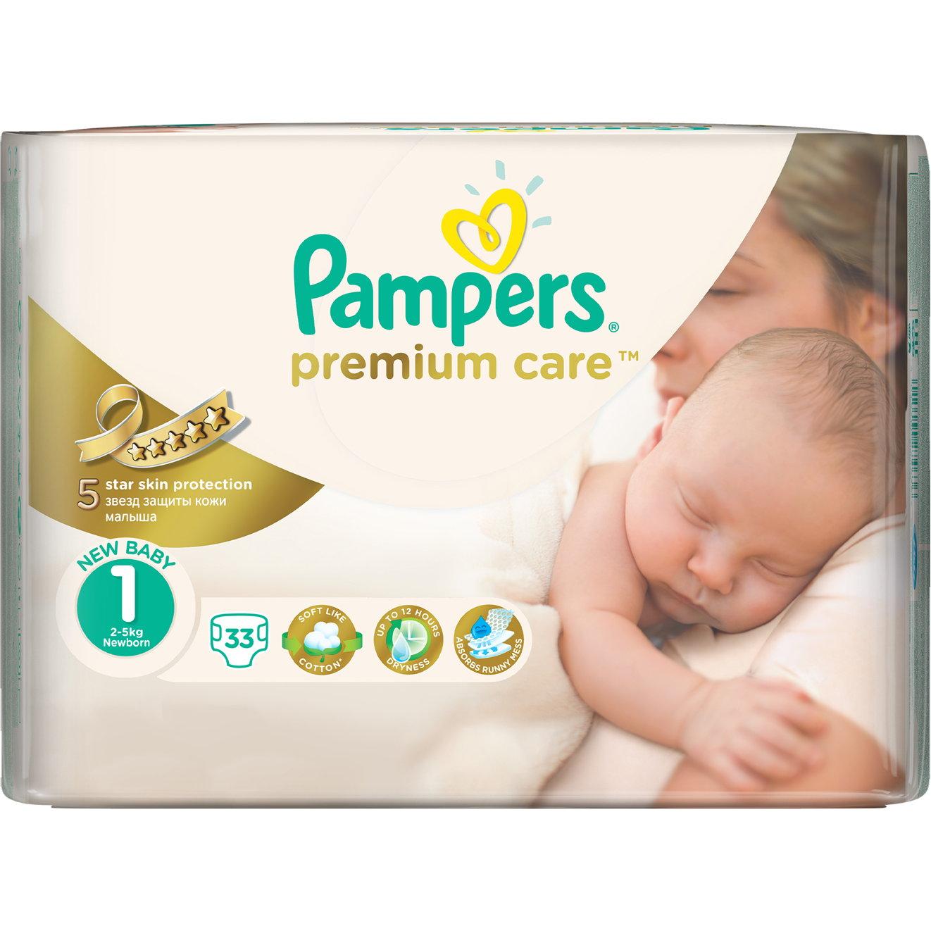 """���������� Pampers """"Premium Care"""" Newborn 2-5 �� (33 ��.) ������ 1"""