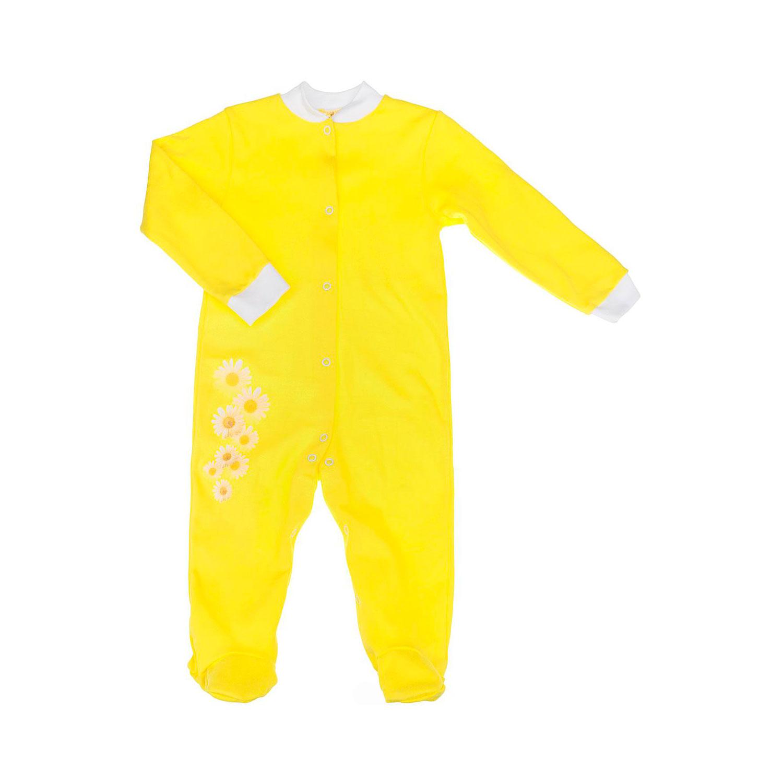 Комбинезон с застежкой Котмаркот Ромашки рост 74 желтый<br>