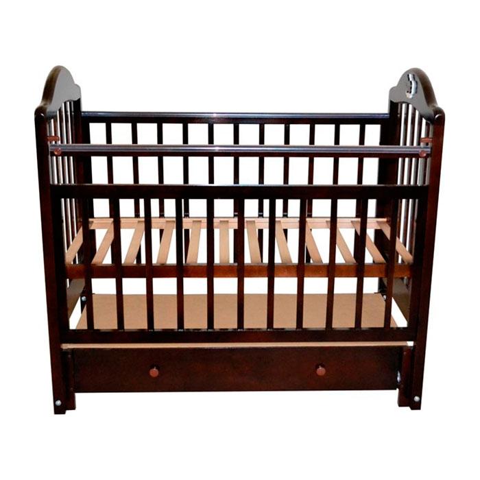 Кроватка Briciola10 с продольным маятником Темная<br>