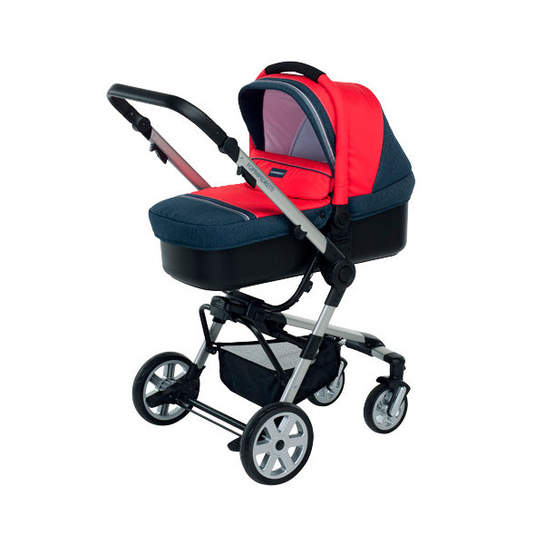 Коляска 3 в 1 Foppapedretti SuperTres Travel System Jeans Rosso<br>