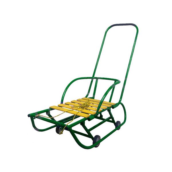 Санки детские Санимобиль Базовый с педальным механизмом Зеленый