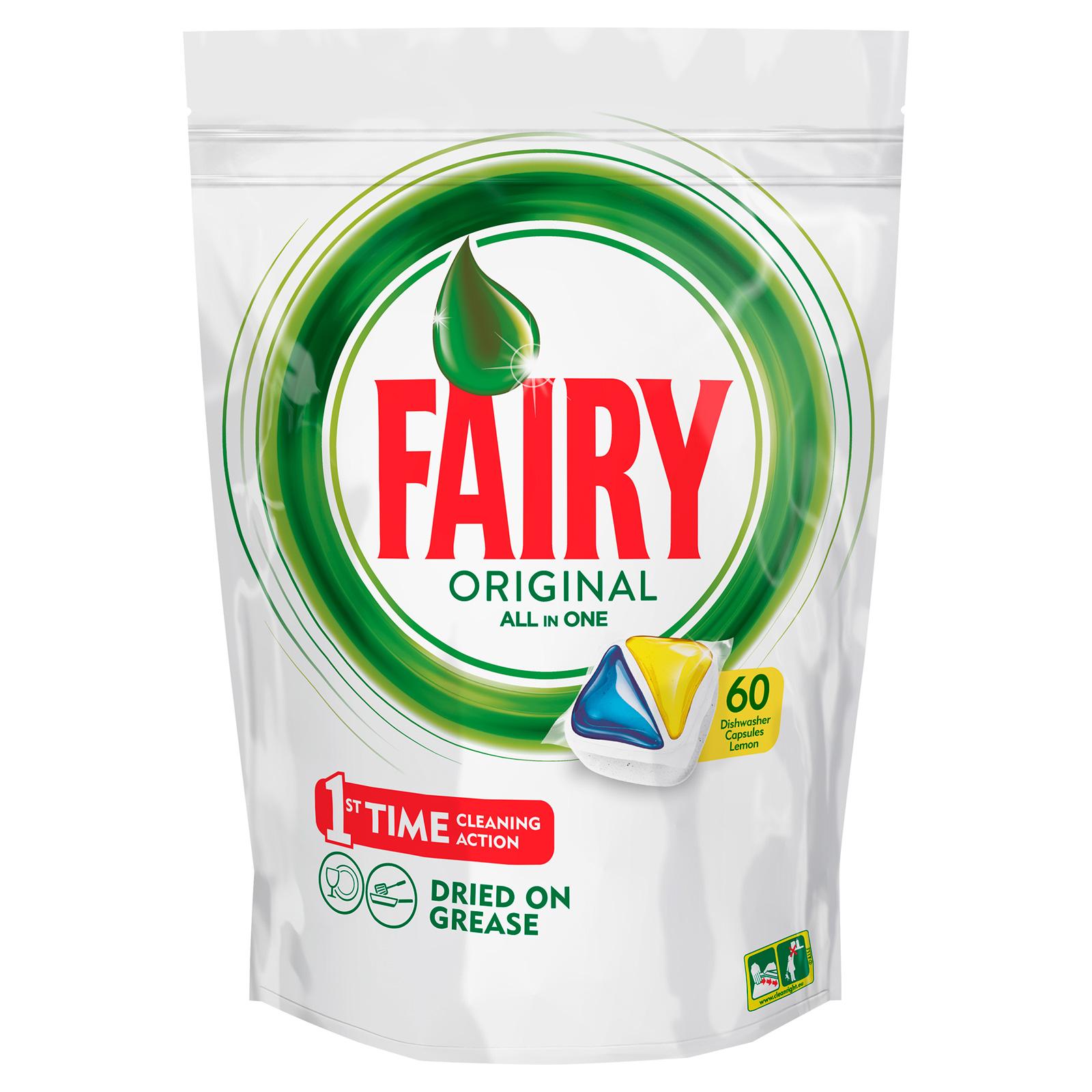Капсулы для посудомоечной машины FAIRY Original All In One Лимон (60 шт)<br>
