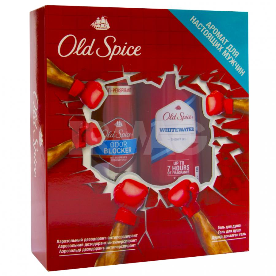 Подарочный набор Оld Spice Аэрозол дезодорант-антиперсп OdorBlockerFresh 125 мл + гель для душа WhiteWater 250 мл<br>