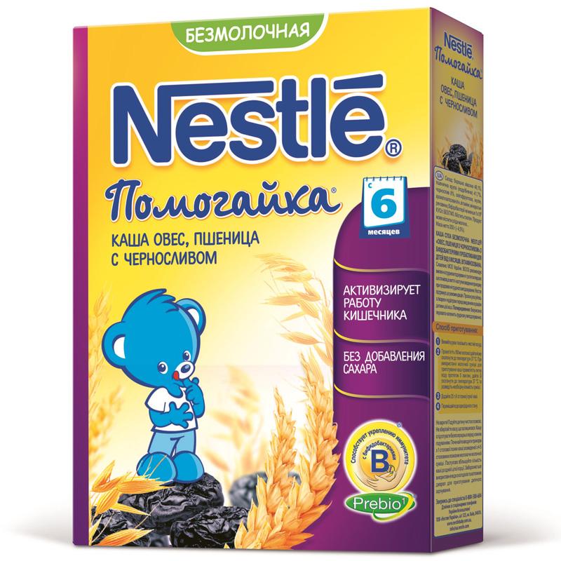 Каша Nestle Помогайка безмолочная 200 гр Овес пшеница с черносливом (с 6 мес)<br>