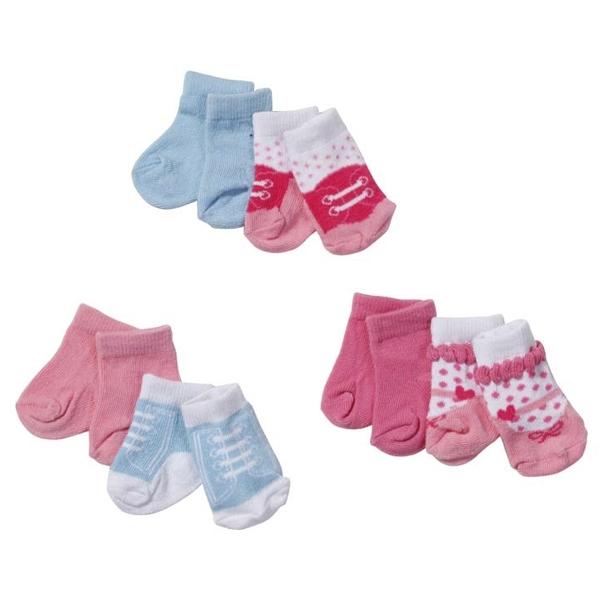 Одежда для кукол Zapf Creation Baby Born Носки 2 пары в блистере (В ассортименте)<br>