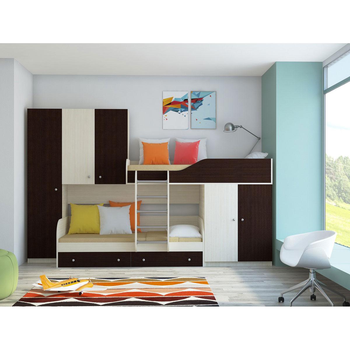 Набор мебели РВ-Мебель Лео Дуб молочный/Венге<br>