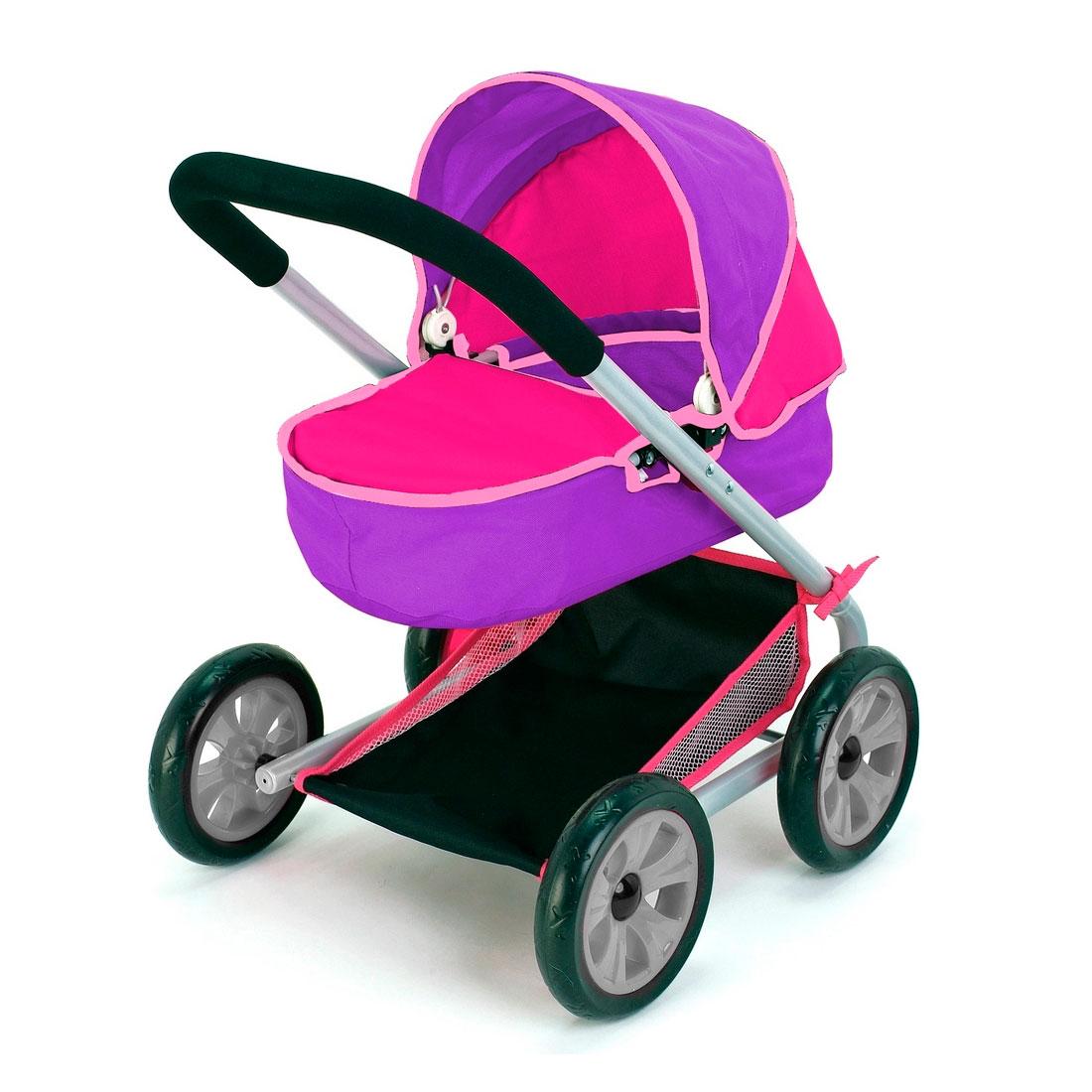 Кукольная коляска RT 639 Фиолетовый и фуксия<br>