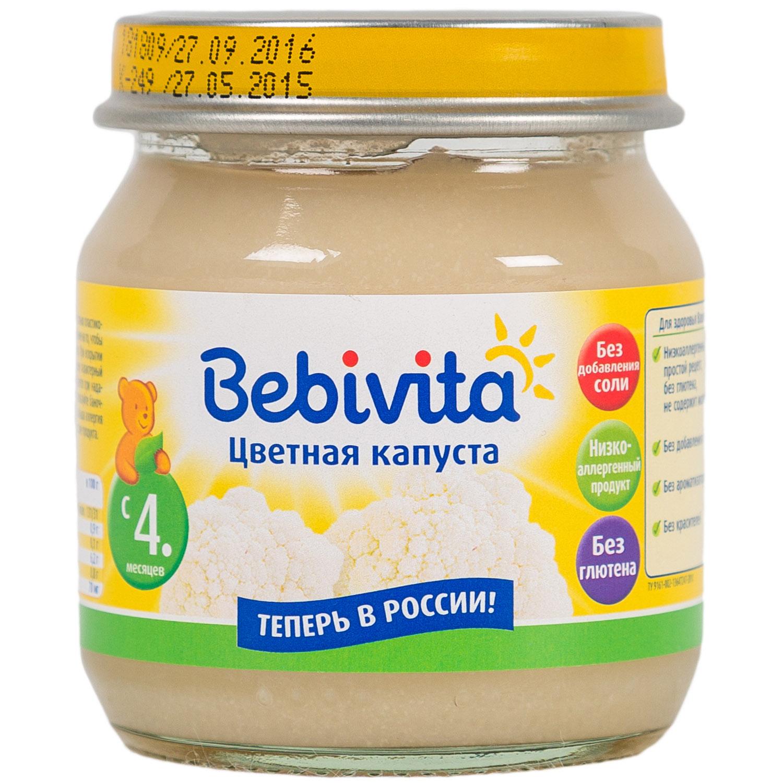 Пюре Bebivita овощное 100 гр Цветная капуста (с 4 мес)<br>