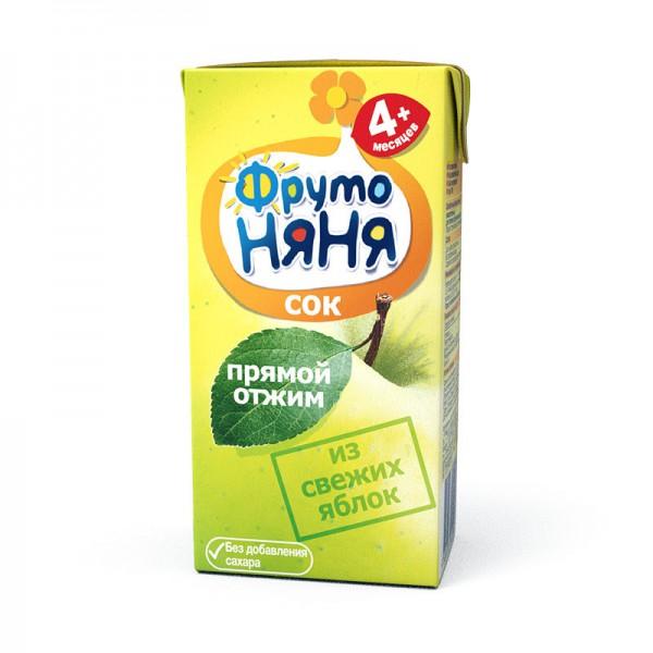 Сок Фрутоняня 200 мл Из свежих яблок (с 3 мес)