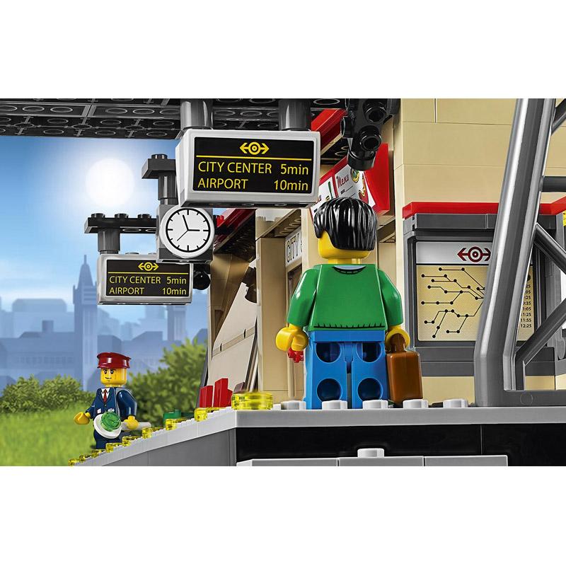 Лего сити железнодорожная станция купить
