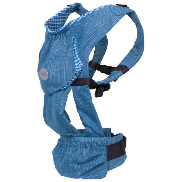 Слинг-рюкзак Чудо-Чадо Бебимобиль с 4 мес до 3 лет Джинсовый с синим<br>
