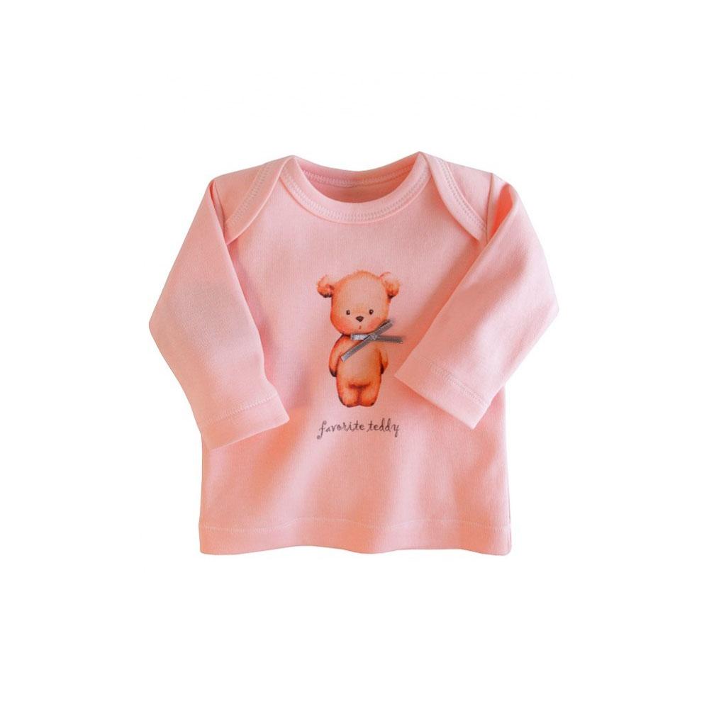 Футболка с длинным рукавом Наша Мама Favorite teddy рост 68 цвет розовый<br>