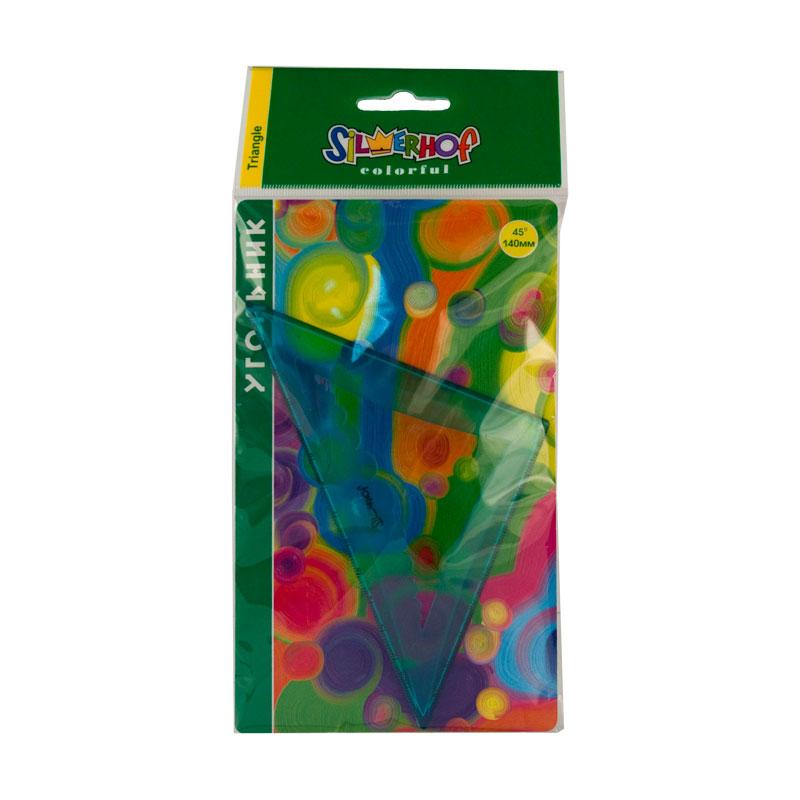 Угольник Silwerhof 45°/14 см Colorful<br>