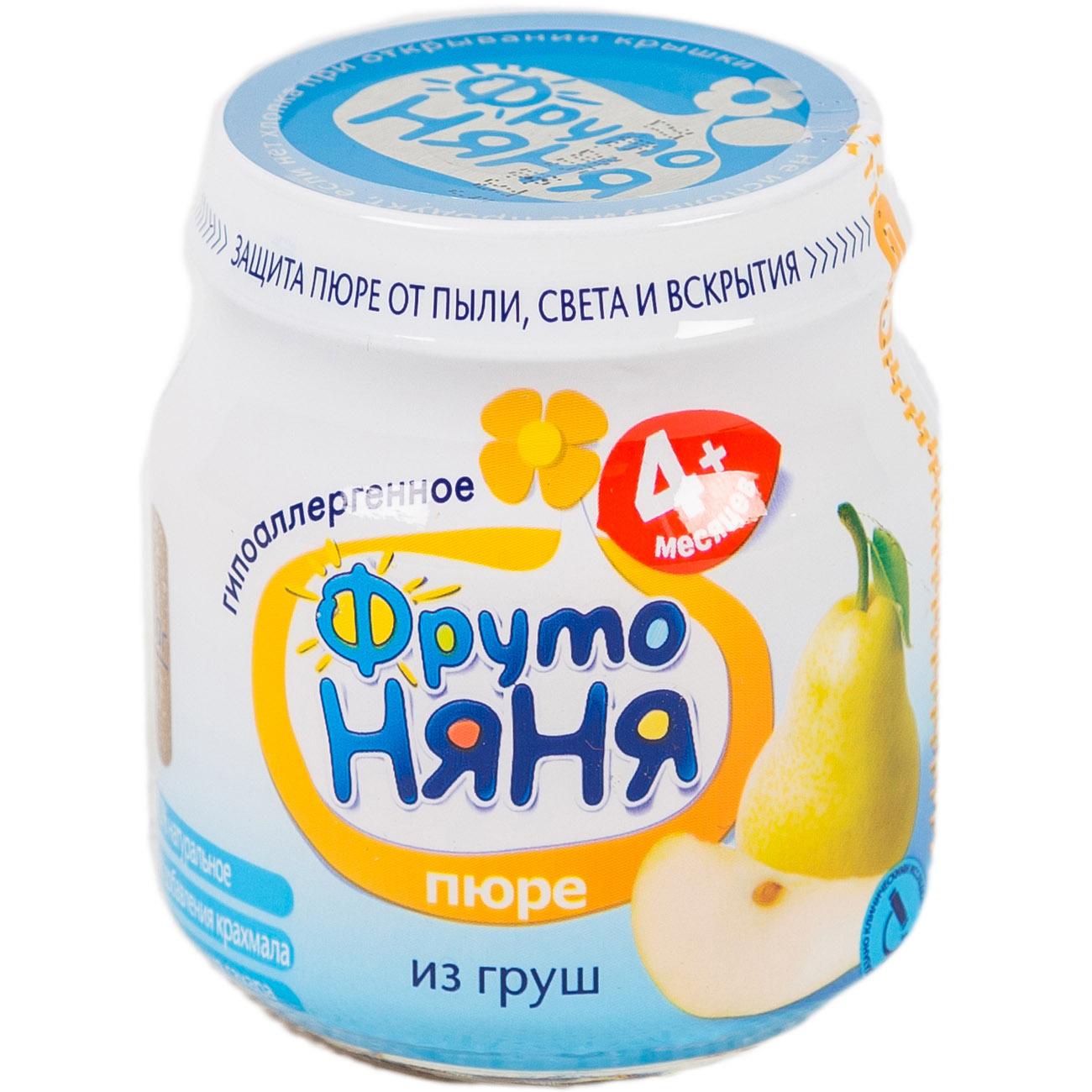 Пюре Фрутоняня фруктовое 100 гр Груша гипоаллергенная без сахара (с 4 мес)<br>