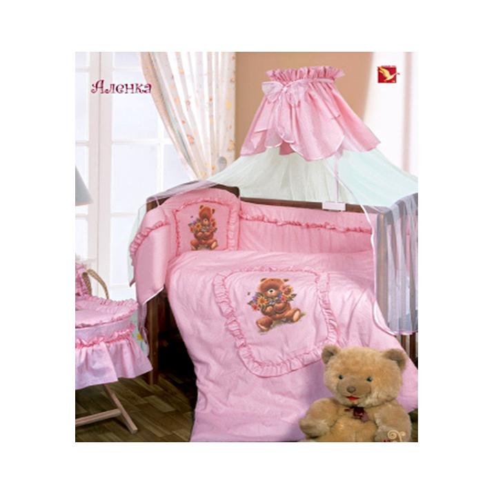 Постельное белье Золотой Гусь Аленка 3 предмета Розовый<br>
