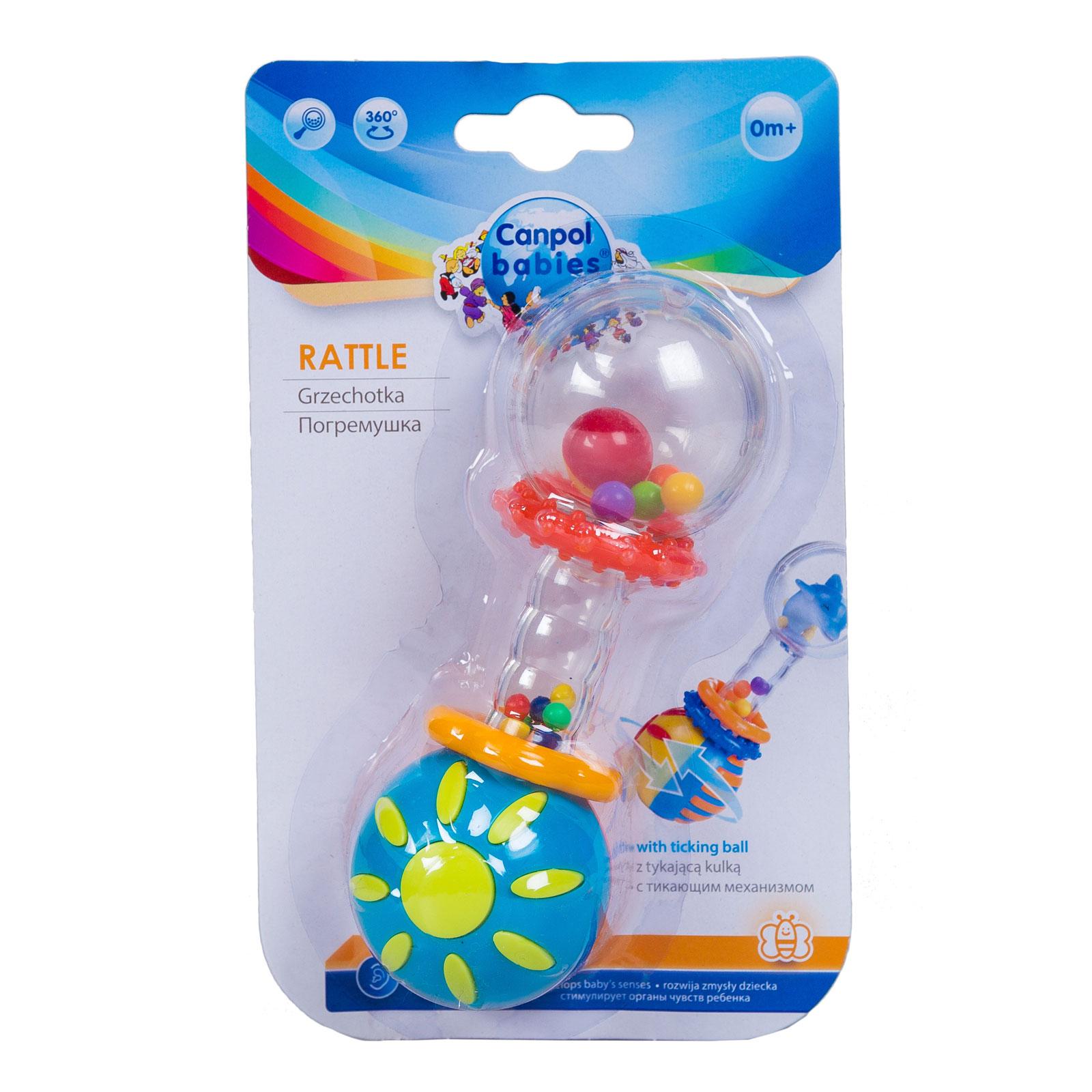 Погремушка Canpol Babies Разноцветная гантель с 0 мес. (с тикающим механизмом)<br>