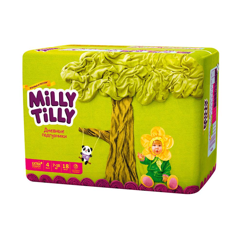 Подгузники Milly Tilly дневные Maxi 7-18 кг (18 шт) Размер 4<br>